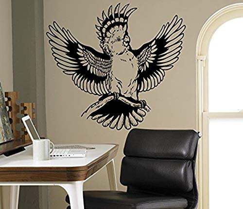 Exotic Wing - Wall Vinyl Decal Parrot Wings Macaw Exotic Bird Home Ideas Vinyl Decor Sticker Home Art Print WD5568