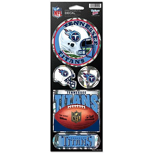 (NFL Tennessee Titans Prismatic Stickers, Team Color, One Size)