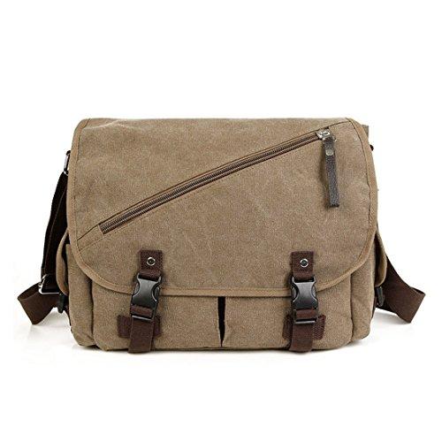 OSOPOLA M-1079 Leisure Cotton Canvas Cross Body Messenger Bag For Men by OSOPOLA