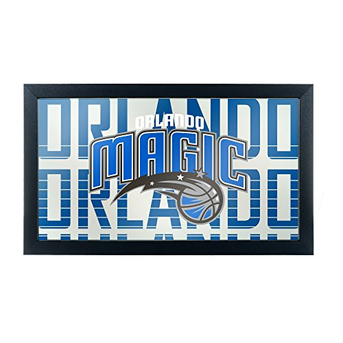 Trademark Gameroom NBA1500-OM3 NBA Framed Logo Mirror - City - Orlando Magic (City Furniture Orlando)