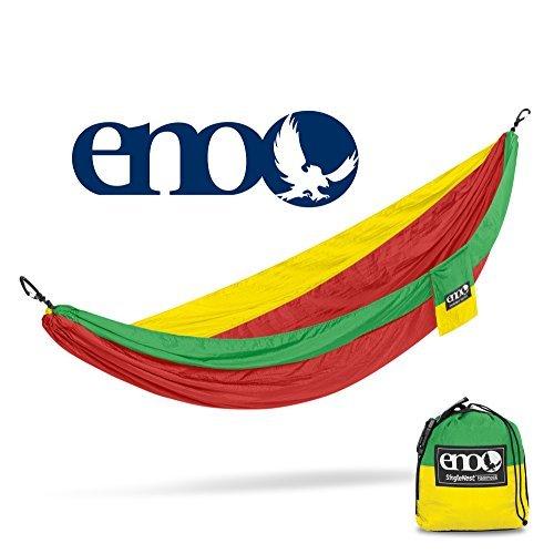 ENO - Eagles Nest Outfitters SingleNest Hammock, Portable Hammock for One, Rasta (Eno Tent Hammock)
