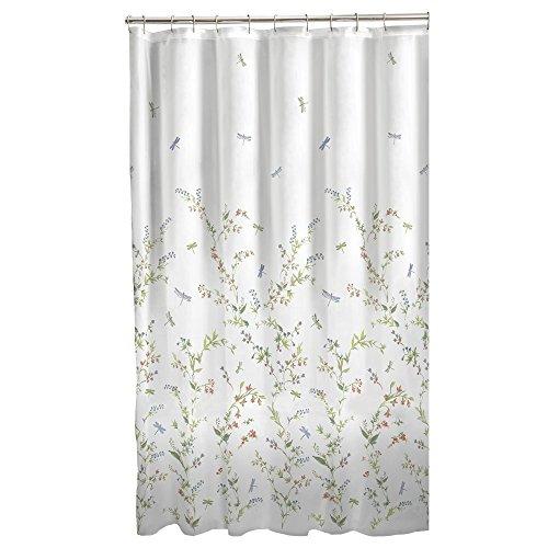 51d5rBQa IL - Maytex Dragonfly Garden Semi Sheer Fabric Shower Curtain