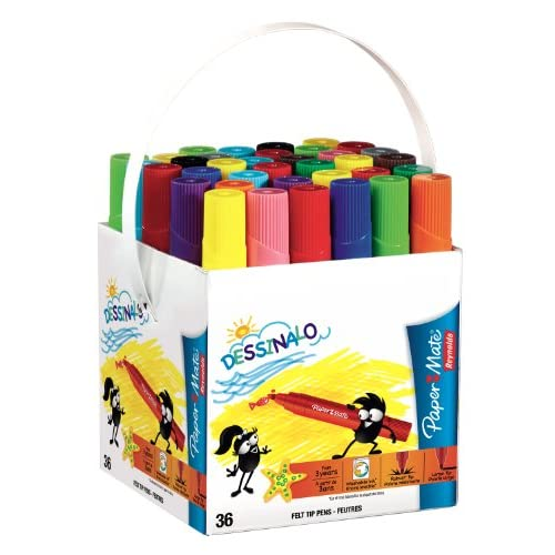 Paper Mate Dessinalo Feutre Dessin Assortiment Lot de 36
