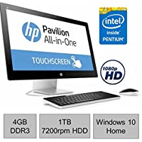 Newest HP Pavilion 22 TouchScreen IPS FHD (1920 x 1080) All-in-One Desktop PC, Intel Pentium G3260T 2.9GHz, 4GB RAM, 1TB 7200rpm HDD, Webcam, Bluetooth, HDMI, Ultra Slim DVD Burner, Windows 10 Home