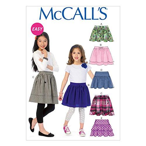 McCall Pattern Company M6984 Children's/Girls' Skirts, Size CHJ -