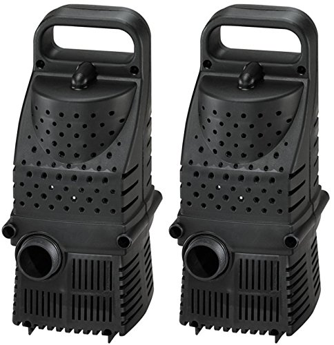 (2) PONDMASTER Supreme 1600 GPH ProLine HY-Drive Pond Waterfall Pumps | 02663