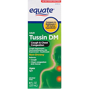 Amazoncom Equate Tussin Dm Compare To Robitussin Dm Cough