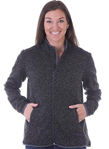 [해외]우드랜드 공급 주식 회사 여성 양털 안감 지퍼 니트 스웨터 재킷/Woodland Supply Co. Women`s Fleece Lined Zip Up Knit Sweater Jacket