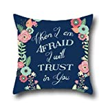 OShiley Christian Bible Verse Square Throw Pillow Cover Standard pillow case protector bed bug 20*20