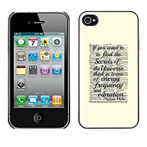 TaiTech / Hard Protective Case Cover - Science Yellow Vintage - Apple iPhone 4 / 4S by ruishername