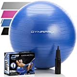 Exercise Ball - 2 - 000 lbs Stability Ball - Professional Grade – Anti Burst Exercise Equipment for Home - Balance - Gym - Core Strength - Yoga - Fitness - Desk Chairs (Blue - 75 Centimeters)
