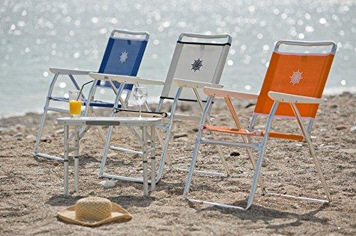 FORMA PA160B Sedia pieghevole da mare tessuto: Textilene colore: blu 650 g//m2 Per giardino ed esterni telaio in alluminio anodizzato /Ø 25 mm