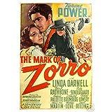 Urparcel Hot Stuff Enterprise 3241 12x18 LM The Mark of Zorro Tyrone Power Poster 12