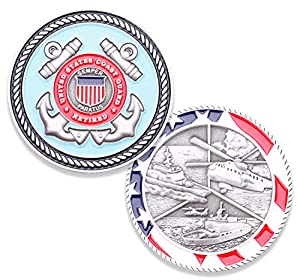 Coast Guard Retired Challenge Coin - United States Coast Guard Retired Challenge Coin - Amazing US Coast Guard Military Coin - Designed by Military Veterans! by Coins For Anything Inc