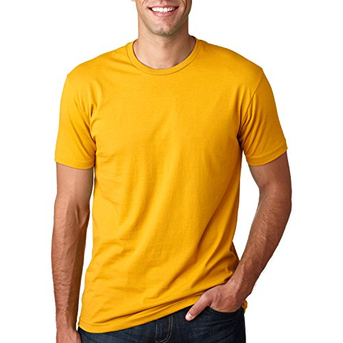 Next Level Mens Premium Fitted Short-Sleeve Crew T-Shirt - X-Small - Gold ()