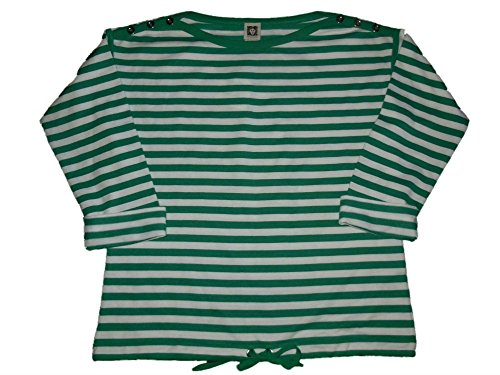 Anne Klein Womens 3/4 Sleeve Active Top Small Electric Green/White