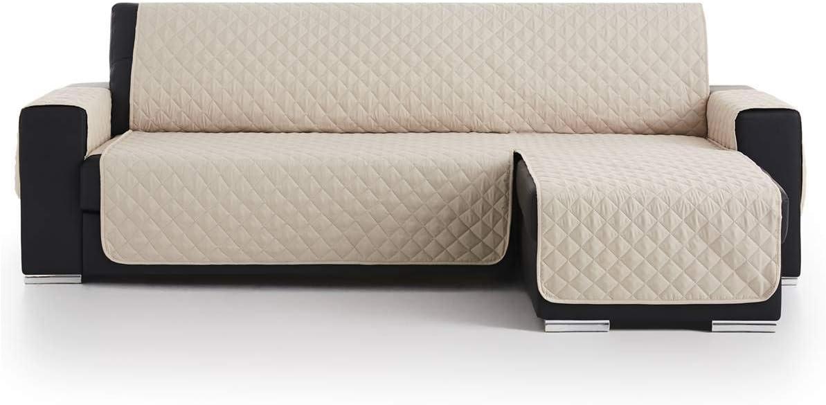 Lanovenanube Belmarti - Funda Chaise Longue Acolchado - Práctica - Izquierda 240 cm - Color Beig C02