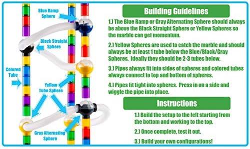 Marble Genius Marble Run Pipes /& Spheres Accessory Set