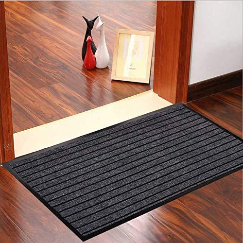 Goodxin XX1-11 Indoor Outdoor Mats Rubber Entrance Doormat Dirt Debris Mud Trapper Waterproof Out Door Mat Low Profile Washable Carpet (36
