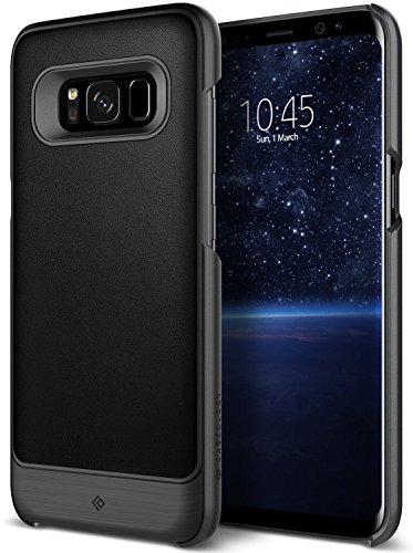 Galaxy S8 Case, Caseology [Fairmont Series] Slim Premium PU Leather Impact Protection Ultra Low-Profile [Black] for Samsung Galaxy S8 (2017)