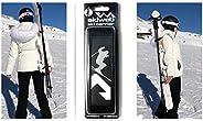 Skiweb Ski & Pole Carrier Strap - Hands Free Vertical Over Shoulder Carrier for Skis and Poles Leaving You