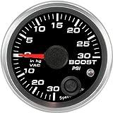Speedhut GR20-BV01 Boost/Vac Gauge 30inhg-0-30psi (With Warning LED), 2-1/16''