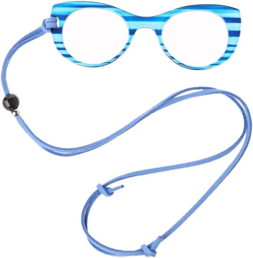 Hothap Occhiali da Lettura per Uomini e Donne Occhiali da Sole da 1,0 a 3,5 Verde Senza Gambe Collo Portatile per Appendere collane 150 mm
