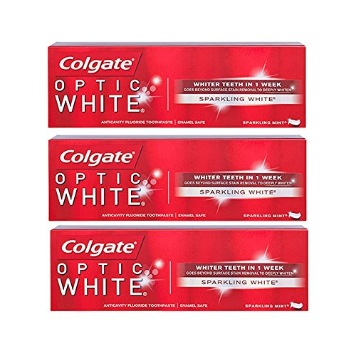 Sparkling Clean Mint (Colgate Optic White Toothpaste, Sparkling Mint, 3.5 Ounce (Pack of 3))