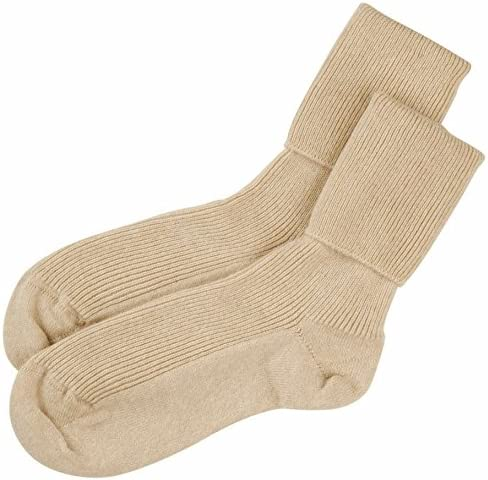 Brother Weave Stab  Cashmere Sock House - Scotland - Calze - Basic - Donna beige: Amazon.it:  Abbigliamento