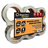Tapexpert Premium Packing Tape Thicker, Tougher 3.0Mil. 6 Rolls with Longer 60 Yards Each. Top Quality Packaging Tape Not Found in Stores. Resists Splitting, Tearing. Crystal Clear, Postal Approved