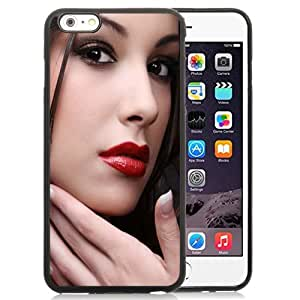 Fashionable Custom Designed iPhone 6 Plus 5.5 Inch Phone Case With Mac Red Lipstick Portrait_Black Phone Case