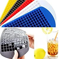 Demana Ice Cube Tray Moulds 16 Grid Square Ice Cube Mould with Non-Spill Lid Best for Freezer Baby Food Water Whiskey Cocktail (Blue)