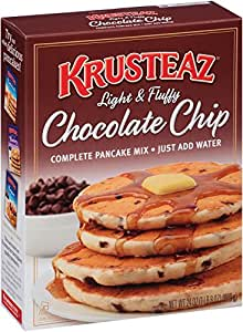 Krusteaz Light & Fluffy Chocolate Chip, Pancake Mix, 24 Ounce (Pack of 12)