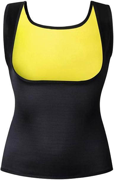 Body Shaper Camiseta sin Mangas de la Camisa de Las Mujeres Formadores de Neopreno Chaleco Tops Pecho Abdomen Cintura Trainer Chaleco: Amazon.es: Ropa y accesorios