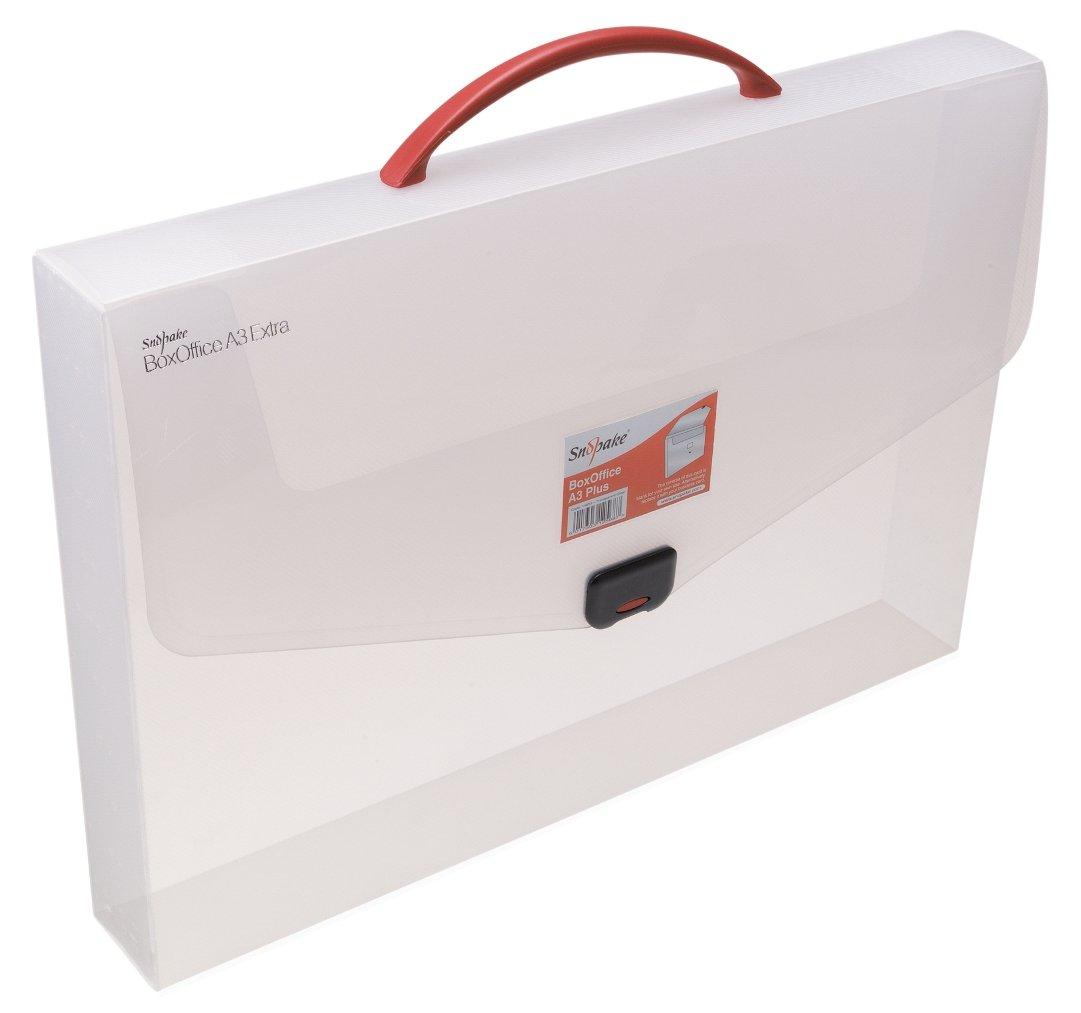 Snopake BoxOffice - Caja de archivo A2 transporte con asa de transporte A2 (5 unidades), colores variados 95bcd8