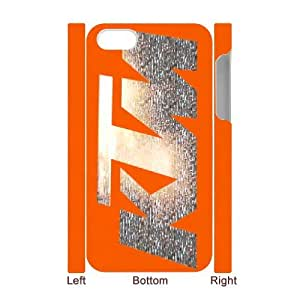iPhone 4 4S 3D Cell Phone Case White Ktm Racing Logo Custom Case Cover A11A560338