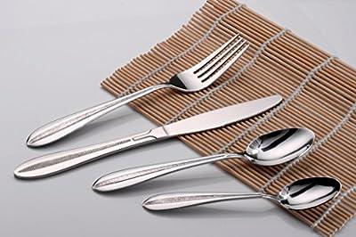 CiCiDi Cutlery 16-piece Elegant Stainless Steel Tableware Dinnereware Flatware Fork Knife Spoon Set, Service for 4