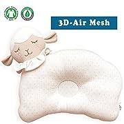 Organic Cotton Baby Protective Pillow (Baby Lamb - Choco Dot (3D Air Mesh))