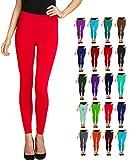 Lush Moda Seamless Full Length Leggings - Variety of Colors - FireRed
