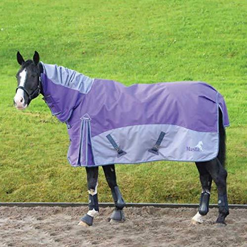 Purple Grey 7 ft Purple Grey 7 ft Masta Field Fixed Neck Turnout Rug