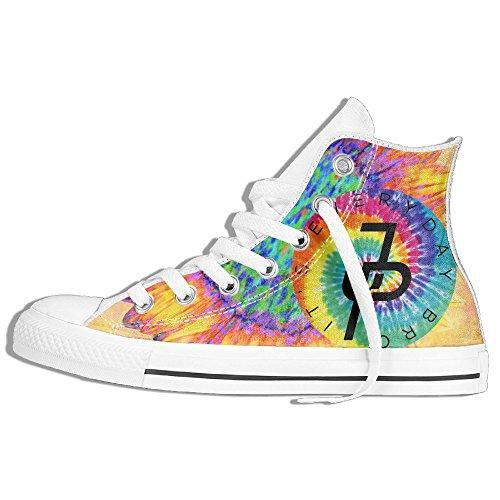 Jake Paul Rainbow Logo High Top Sneaker Canvas Shoes Boys Girls High Top Flats Plimsolls