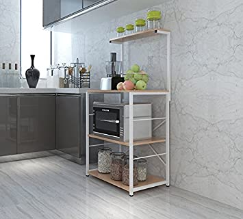 Amazon.de: Küchenmöbel-WXP Regale Regale Küche 3-Schicht Mikrowelle ...