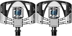 Crank Brothers Mallet 3 Pedals, Rawblacklight Blue Spring