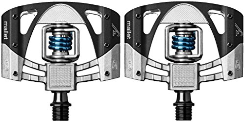 (CRANKBROTHERs Crank Brothers Mallet 3 Pedals, Raw/Black/Light Blue Spring )