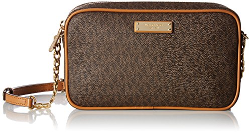 MICHAEL MICHAEL KORS Jet Set Medium Logo Crossbody, Brown by MICHAEL Michael Kors