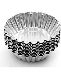 Purchase 10Pcs Cake Aluminium Alloy Mould Baking Cupcake Egg Tart Mold online