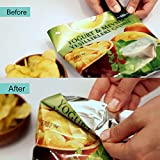 Handheld Heat Seal Bag Sealer – Reseal Food in Plastic Bags for Freshness – Cordless, Rechargeable, & Magnetic Backing for Fridge – Mylar, Polybag, Grocery, Chip, & Produce Bags Bind Fast & Airtight