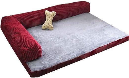 LLL-dog bed Camas para Perros pequeñas, sofá Cama ortopédico para Mascotas Indestructible con Funda Lavable y Fondo Antideslizante: Amazon.es: Hogar