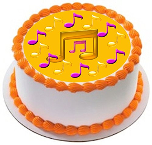 Music-Note-Edible-Birthday-Cake-OR-Cupcake-Topper-10-round-inches