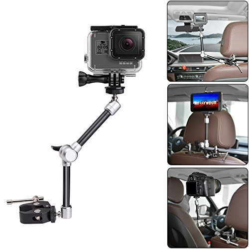 11'' Adjustable Robust Articulating Friction Magic Arm , DSLR / Mirrorless / Action Camera / Camcorder / Smartphone / LCD Monitor Video Vlog Rig w/ Clamp Holder Mounts Kit fit for GoPro iPhone Arlo etc by fantaseal
